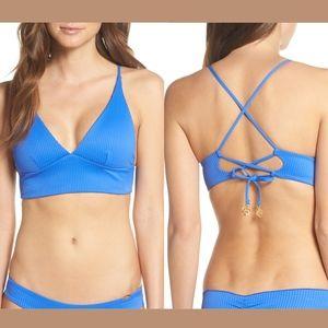NWT LULI FAMA Costa del Sol Ribbed Bikini top Med